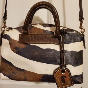 100% Authentic Dooney & Bourke Zebra Crossbody